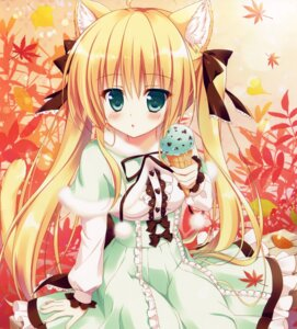 Rating: Safe Score: 84 Tags: ame_nochi_yuki ame_to_yuki animal_ears dress nekomimi User: donicila