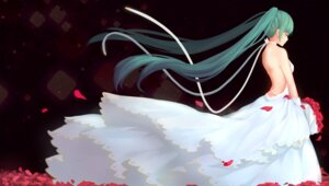 Rating: Safe Score: 46 Tags: dre dress hatsune_miku no_bra vocaloid wedding_dress User: Mr_GT