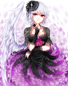 Rating: Safe Score: 40 Tags: cleavage dress gothic_lolita kishin_sagume lolita_fashion see_through sheya touhou wings User: Mr_GT