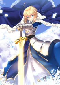 Rating: Safe Score: 44 Tags: armor dress fate/grand_order fate/stay_night saber sword User: AnoCold