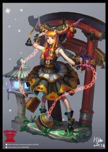 Rating: Safe Score: 23 Tags: h-kun horns ibuki_suika lolita_fashion touhou wa_lolita User: Mr_GT