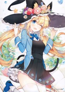 Rating: Safe Score: 51 Tags: animal_ears ayamy hachigo nekomimi seifuku tail thighhighs witch User: kiyoe