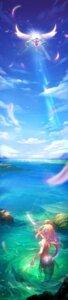 Rating: Questionable Score: 47 Tags: dress landscape mermaid monster_girl pcw tail wet wings User: blooregardo