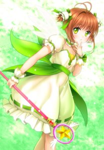 Rating: Safe Score: 37 Tags: card_captor_sakura dress kinomoto_sakura moonknives wings User: gnarf1975