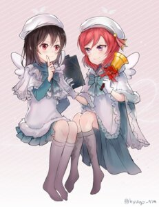 Rating: Safe Score: 17 Tags: hyugo love_live! nishikino_maki wings yazawa_nico User: blooregardo