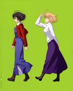 Rating: Safe Score: 15 Tags: arcueid_brunestud heels kara_no_kyoukai ryougi_shiki tsukihime type-moon User: Fanla