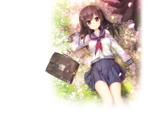 Rating: Safe Score: 66 Tags: akabeisoft3 akizora_momiji inochi_no_spare seifuku shukugawa_meguri User: moonian