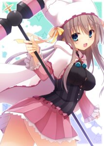 Rating: Questionable Score: 98 Tags: nopan sanoba_witch shiiba_tsumugi weapon witch yuzuka User: donicila
