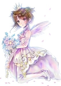 Rating: Safe Score: 35 Tags: card_captor_sakura dress hanekoto kinomoto_sakura thighhighs wings User: demon2