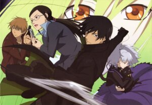 Rating: Safe Score: 10 Tags: amber darker_than_black gun hei kirihara_misaki kouno_yutaka mao_(darker_than_black) megane yin User: Radioactive