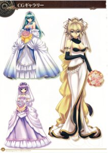 Rating: Safe Score: 36 Tags: agarest_senki agarest_senki_2 aina_(agarest_senki) animal_ears cleavage dress felenne hirano_katsuyuki nekomimi screening victoria_(agarest_senki) wedding_dress User: shadowninja