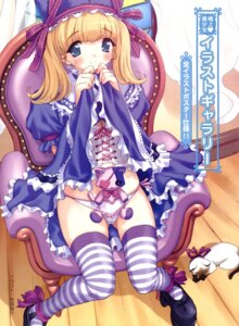 Rating: Questionable Score: 25 Tags: konsu_konsuke lolita_fashion panty_pull skirt_lift thighhighs User: petopeto