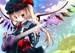 Rating: Safe Score: 39 Tags: flandre_scarlet guitar kiira lolita_fashion skavler touhou wings User: charunetra