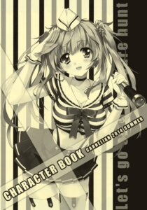 Rating: Questionable Score: 30 Tags: carnelian cleavage monochrome thighhighs User: DDD