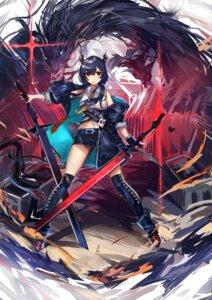 Rating: Safe Score: 41 Tags: arknights ch'en_(arknights) horns monster sword thighhighs yan_ge User: Mr_GT