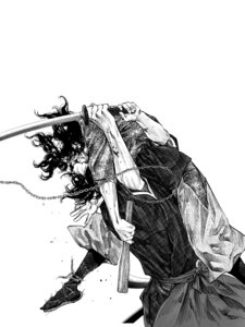 Rating: Safe Score: 3 Tags: inoue_takehiko male monochrome sword vagabond User: Umbigo
