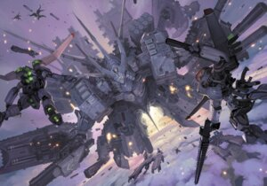 Rating: Safe Score: 31 Tags: gun mecha sword takayama_toshiaki User: hobbito