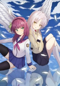 Rating: Safe Score: 6 Tags: angel_beats! seifuku tagme tenshi thighhighs wings yurippe User: Spidey