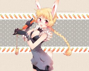 Rating: Safe Score: 51 Tags: alice_in_wonderland animal_ears anthropomorphization bunny_ears bunny_girl cleavage megane nardack tail wallpaper white_rabbit User: fireattack