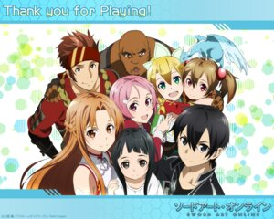 Rating: Safe Score: 20 Tags: agil alfheim_online asuna_(sword_art_online) kirito klein_(sword_art_online) leafa lisbeth pina silica sword_art_online wallpaper yui_(sword_art_online) User: sinonhecate