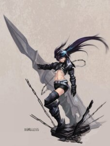 Rating: Safe Score: 10 Tags: black_rock_shooter black_rock_shooter_(character) kote_(tures) thighhighs vocaloid User: Radioactive