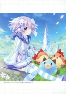 Rating: Safe Score: 28 Tags: choujigen_game_neptune neptune thighhighs tsunako User: Omega87
