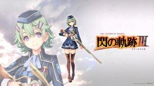 Rating: Safe Score: 20 Tags: eiyuu_densetsu eiyuu_densetsu:_sen_no_kiseki gun musse_egret thighhighs uniform wallpaper User: saycyber