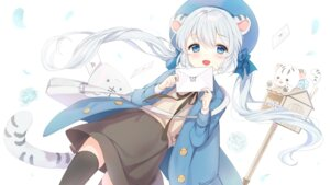Rating: Safe Score: 32 Tags: animal_ears mullpull tail thighhighs User: BattlequeenYume