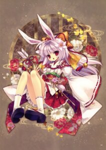 Rating: Safe Score: 34 Tags: animal_ears bunny_ears capura.l eternal_phantasia miko User: fireattack