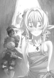 Rating: Safe Score: 31 Tags: armor elf goblin_slayer goblin_slayer_(character) high_elf_archer kannatsuki_noboru monochrome pointy_ears sword User: kiyoe