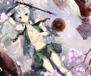 Rating: Questionable Score: 28 Tags: konpaku_youmu muso-comet nipples see_through sword touhou User: Radioactive