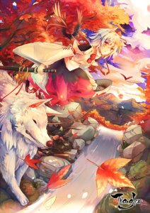 Rating: Safe Score: 26 Tags: animal_ears inubashiri_momiji kirero sword touhou User: GREW89