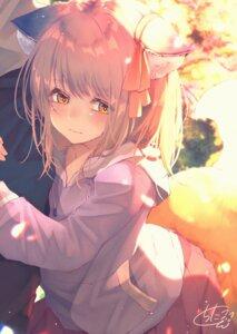 Rating: Safe Score: 21 Tags: animal_ears chita_(ketchup) kitsune tail User: BattlequeenYume