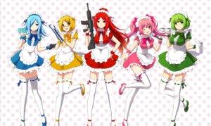 Rating: Safe Score: 13 Tags: gun heels maid megane tagme thighhighs waitress User: saemonnokami