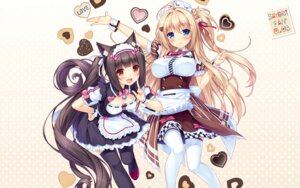 Rating: Safe Score: 63 Tags: animal_ears chocolat cleavage maid neko_para nekomimi sayori thighhighs wallpaper User: Mr_GT