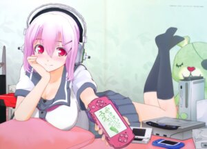 Rating: Safe Score: 40 Tags: cg cleavage cosplay headphones ore_no_imouto_ga_konnani_kawaii_wake_ga_nai seifuku sonico super_sonico User: NeoReaper