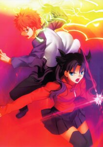 Rating: Safe Score: 6 Tags: emiya_shirou fate/stay_night takeuchi_takashi thighhighs toosaka_rin type-moon User: admin2