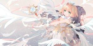Rating: Safe Score: 28 Tags: card_captor_sakura daidouji_tomoyo dress kinomoto_sakura rokusai seifuku weapon wings User: sym455