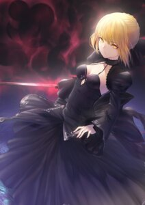 Rating: Safe Score: 24 Tags: cleavage dress fate/grand_order itaco1987 saber saber_alter sword User: charunetra