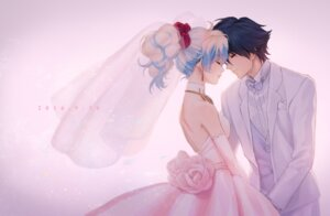 Rating: Safe Score: 39 Tags: dress mosako nia simon tengen_toppa_gurren_lagann wedding_dress User: Mr_GT