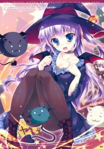 Rating: Questionable Score: 79 Tags: cleavage dress heels mikeou pantyhose pink_chuchu tail witch User: Twinsenzw