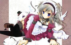 Rating: Safe Score: 34 Tags: akane_iro_ni_somaru_saka crease hisuitei izumi_tsubasu katagiri_yuuhi maid stockings thighhighs User: crim