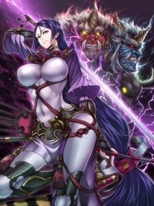 Rating: Questionable Score: 30 Tags: armor bodysuit fate/grand_order minamoto_no_raikou_(fate/grand_order) monster sword weapon yusuki_(fukumen) User: Mr_GT