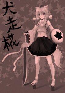 Rating: Safe Score: 9 Tags: animal_ears inubashiri_momiji monochrome ookami_ryuu tail touhou User: Radioactive