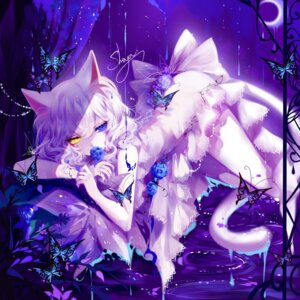 Rating: Safe Score: 27 Tags: animal_ears dress heterochromia nekomimi sheya tail User: Mr_GT
