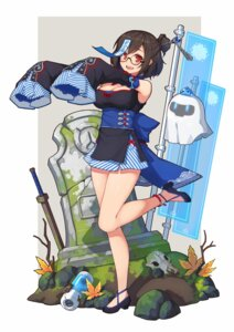 Rating: Safe Score: 44 Tags: cleavage heels japanese_clothes megane mei_(overwatch) overwatch terras weapon User: nphuongsun93