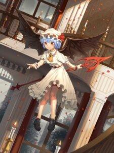 Rating: Safe Score: 19 Tags: dress garter goback remilia_scarlet skirt_lift touhou weapon wings User: Mr_GT