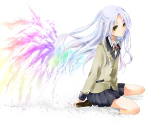 Rating: Safe Score: 20 Tags: angel_beats! seifuku shinoda tenshi wallpaper wings User: Ponnkun