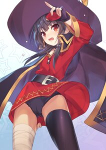 Rating: Questionable Score: 48 Tags: bandages dress kono_subarashii_sekai_ni_shukufuku_wo! megumin pantsu shinonome_tomo skirt_lift thighhighs witch User: Mr_GT