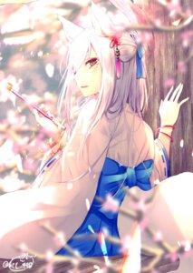 Rating: Safe Score: 49 Tags: animal_ears chita_(ketchup) kitsune miko signed tail User: RyuZU